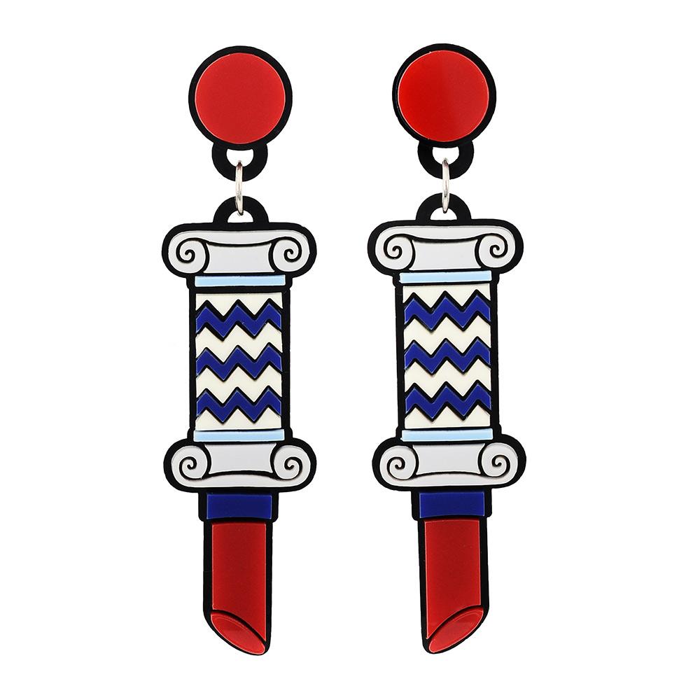 Yazbukey法國品牌 口紅柱造型垂墜夾式耳環