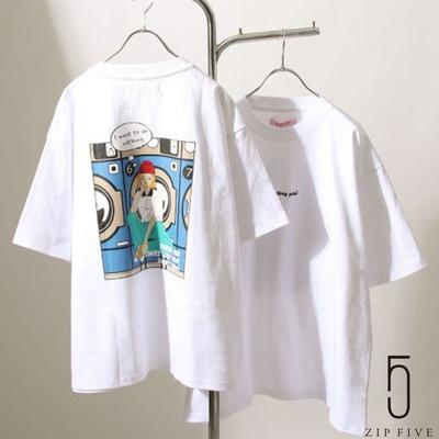 ZIP日本男裝 手繪風休閒插畫設計短袖TEE (6色)