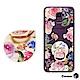 Corner4 Samsung Galaxy J6 奧地利彩鑽指環扣雙料手機殼-莓瑰 product thumbnail 1