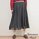 Samansa Mos2 2Way正反兩穿鬆緊腰設計薄紗長裙