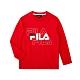 FILA KIDS 長袖圓領上衣-紅色 1TEU-8902-RD product thumbnail 1