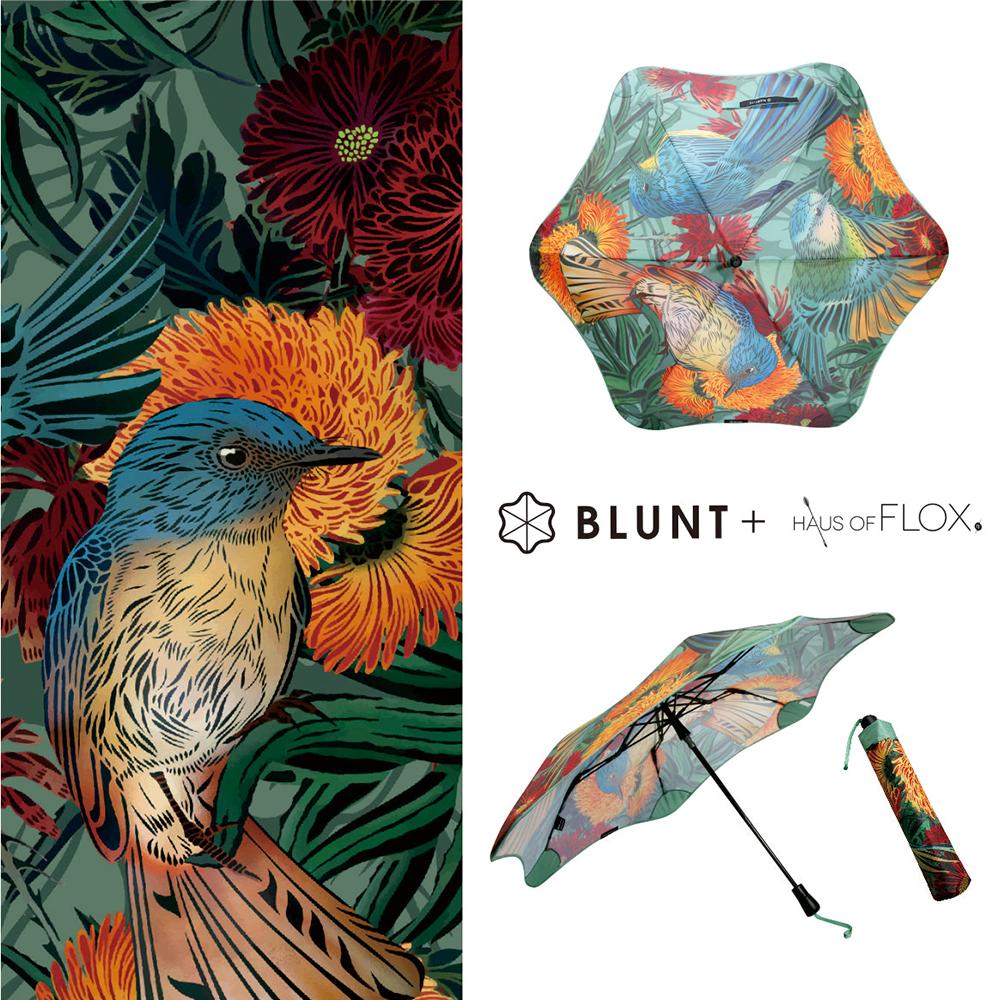 2019 BLUNT + FLOX 限量聯名 XS_METRO _ 鳥花園 圖騰 折傘