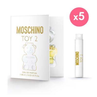*MOSCHINO 熊芯未泯2 女性淡香精針管1ml(5入組)