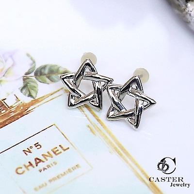 日本 凱斯特 CASTER 心中的小星星 時尚銀耳環 防抗過敏 SUS316L頂級不鏽鋼飾 @ Y!購物