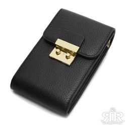 2R 訂製fashion牛皮手機鍊帶收納包 百搭黑