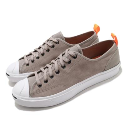 Converse 休閒鞋 Jack Purcell 運動 男女鞋 基本款 開口笑 情侶穿搭 麂皮 灰 橘 169393C