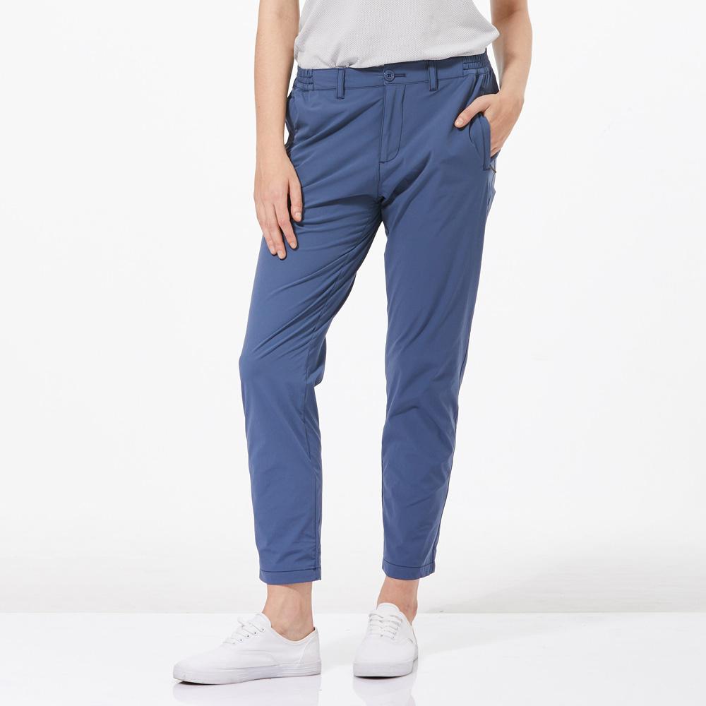 【HAKERS 哈克士】女 抗UV快乾彈性修身九分褲-復古藍