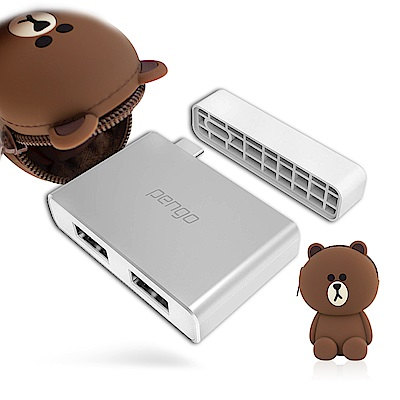 iStyle Pengo USB-C對USB-A雙埠轉接器