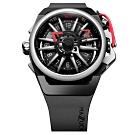 MAZZUCATO 義式美學鷗翼式翻轉機械石英雙面手錶(RIM01-BK186)