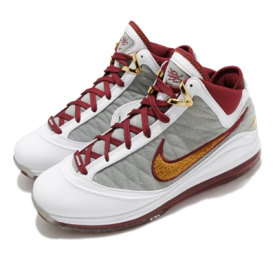 Nike 籃球鞋 LeBron VII QS 運動 男鞋 氣墊 避震 明星款 復刻 球鞋 穿搭 白 紅 CZ8915100