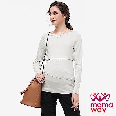 mamaway媽媽餵-彈性孕哺上衣(共兩色)