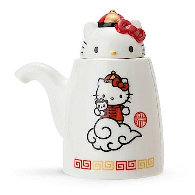 Sanrio HELLO KITTY中華飯店系列造型陶磁醬油罐
