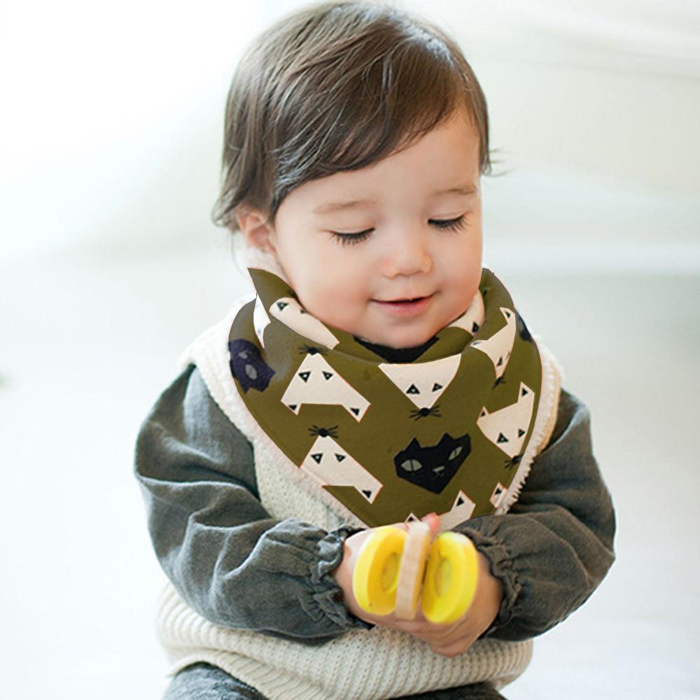 【QBabe】Q版寶寶可愛秋冬保暖三角加絨圍巾 口水巾-3件組 @ Y!購物