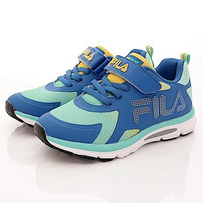 FILA頂級童鞋款 輕量漸層慢跑款 EI01R-369藍綠(大童段)0