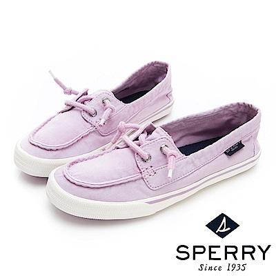 SPERRY 玩色繽紛水洗休閒帆船鞋(女)-薰衣草紫