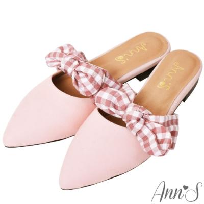 Ann'S啾啾咪-不破內裡可愛蝴蝶結穆勒鞋 -粉(版型偏小)