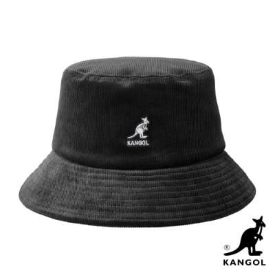 KANGOL-燈芯絨漁夫帽-黑色