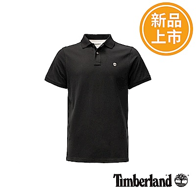 Timberland 男款黑色Millers River短袖POLO衫