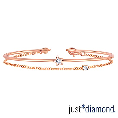 Just Diamond 18K玫瑰金鑽石手環-Perfect Star