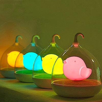 半島良品 創意萌系LED鳥籠小夜燈-四款任選