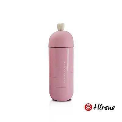 日本HIRONE日本博音Q萌造型保溫杯-粉紅蘿蔔