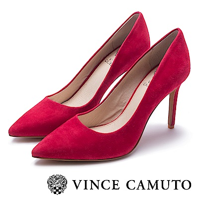 VINCE CAMUTO 熱銷素面絕對美型高跟鞋-絨紅