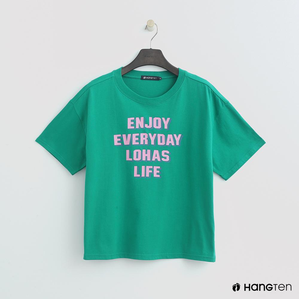 Hang Ten - 女裝 - 活力印字T恤 - 綠 @ Y!購物