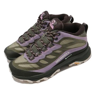Merrell 戶外鞋 Moab Speed Mid GTX 女鞋 登山 越野 耐磨 黃金大底 防水 中筒 綠 黑 ML135416