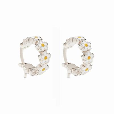 Pura Vida 美國手工 PAINTED BLOOMS HOOP EARRINGS 花朵圈型耳環