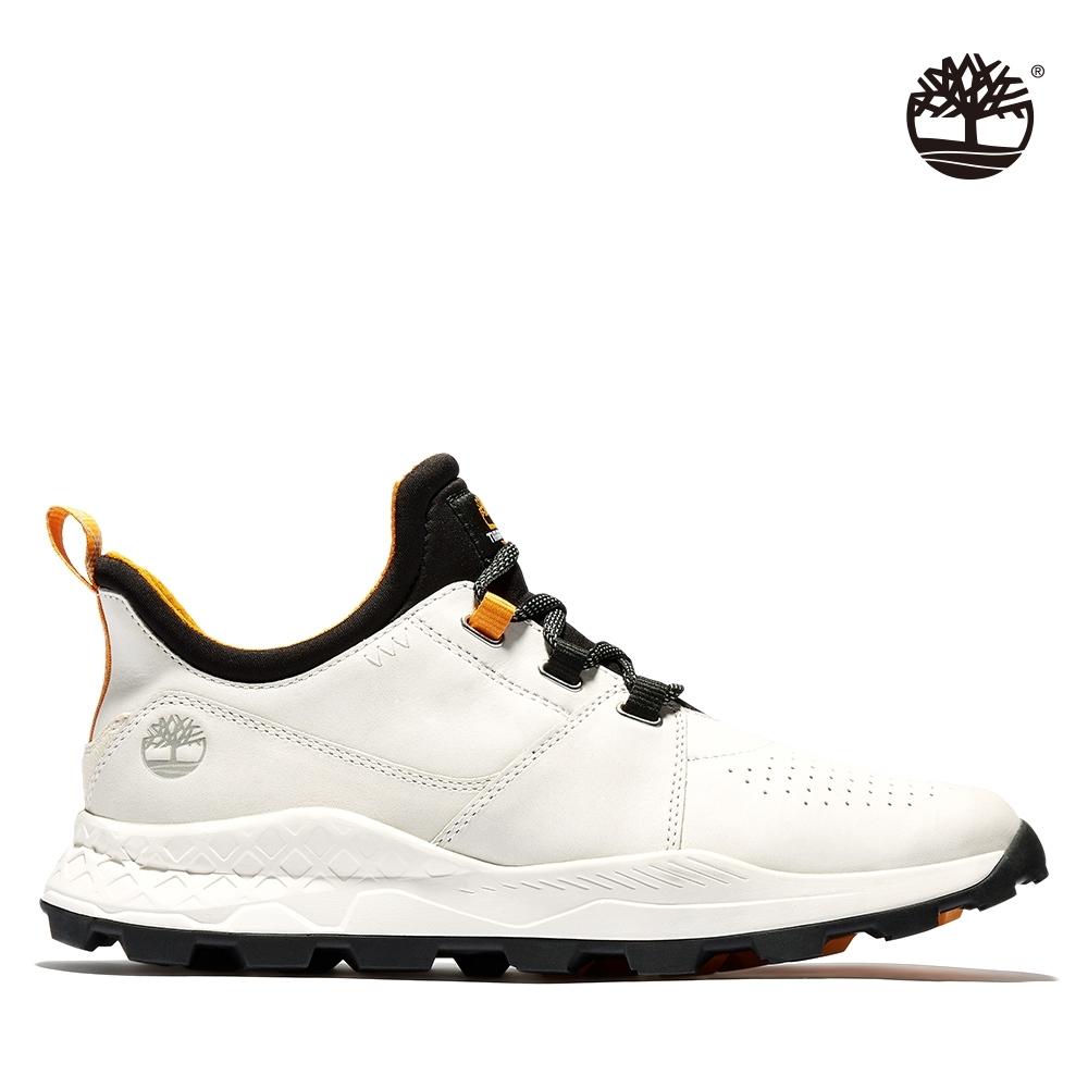 Timberland 男性白色磨砂革綁帶休閒防潑水牛津鞋|A2HRV