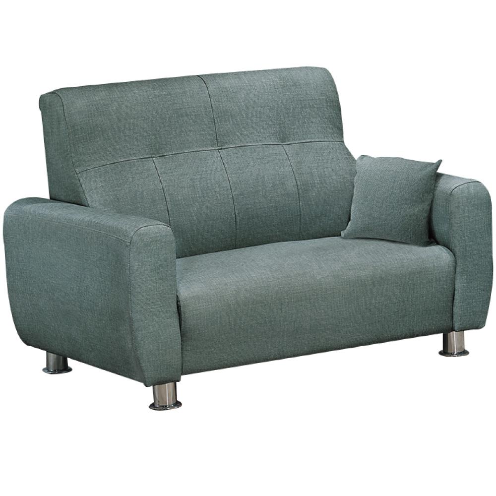 綠活居 圖卡尼時尚灰貓抓皮革二人座沙發椅-145x88x96cm免組