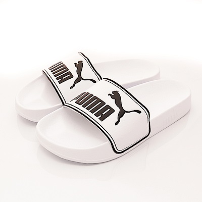 PUMA童鞋-超輕量止滑拖鞋款-60263-08白(大童段)