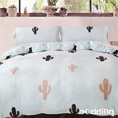 BEDDING-多款-法蘭絨床包鋪棉款-雙人床包被套四件組