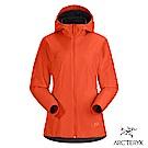 Arcteryx 女 Solano軟殼 防風 保暖 刷毛外套 曙光紅