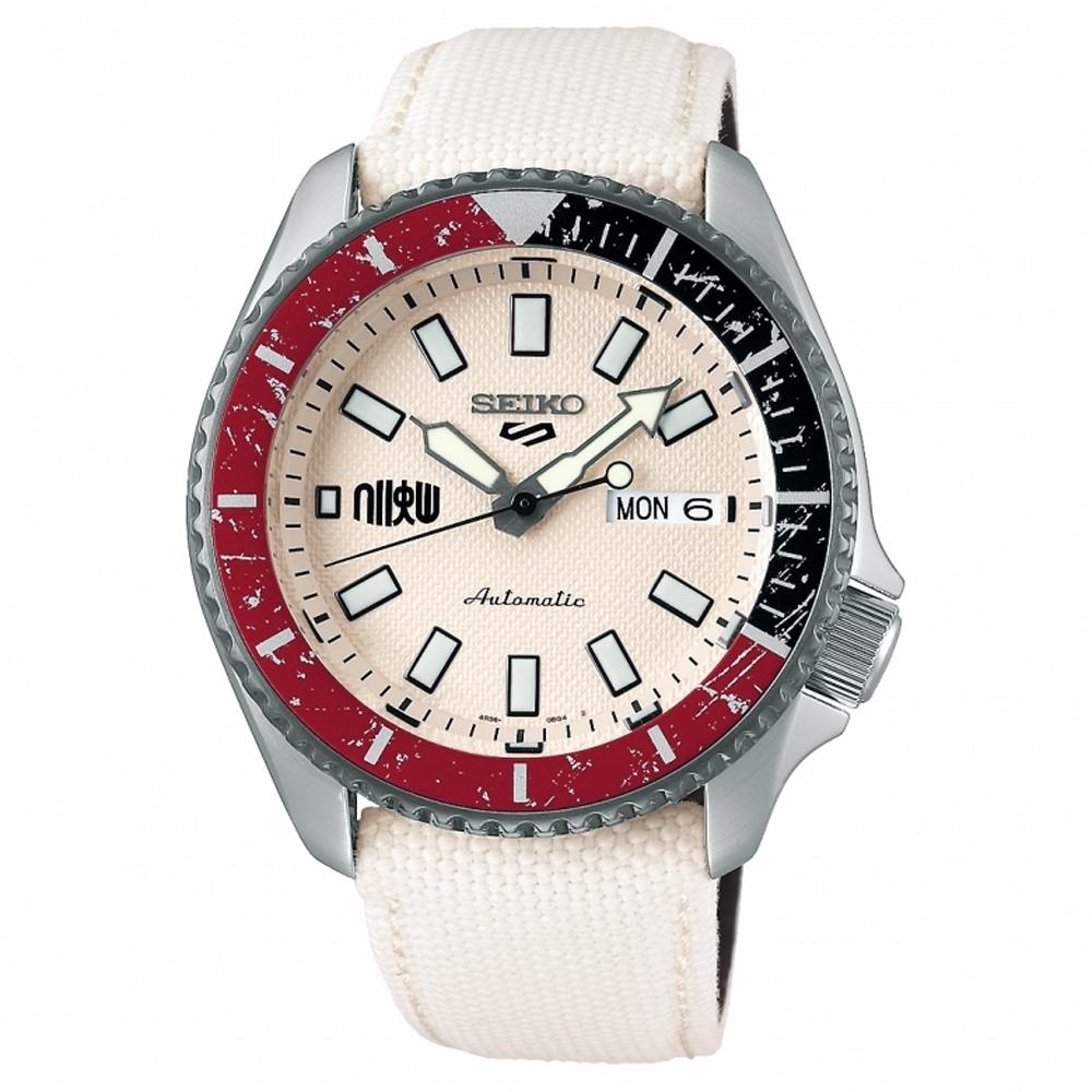 SEIKO精工 5 Sports快打旋風5隆聯名限量機械錶(SRPF19K1/4R36-08P0W)-42.5mm