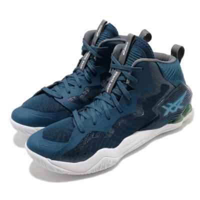 Asics 籃球鞋 Nova Surge 運動 中筒 男鞋 亞瑟士 包覆 緩震 耐磨 亞瑟膠 藍 白 1061A027400