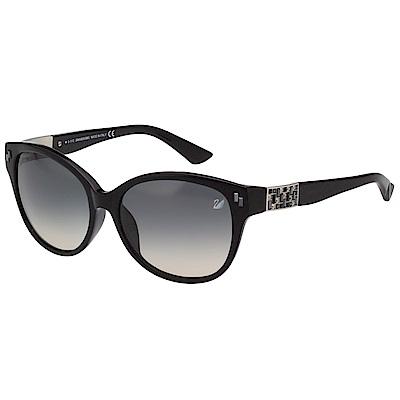 SWAROVSKI 經典水鑽 太陽眼鏡(黑色)SW9036