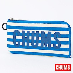 CHUMS-Sweat Logo皮夾CH602362A047-藍色條紋