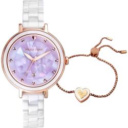 RELAX TIME 極光系列Aurora 陶瓷女錶-浪漫紫(RT-92-3)