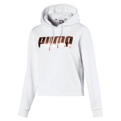 PUMA-女性基本系列Holiday長厚連帽T恤-白色-歐規
