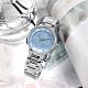ALBA 不規則紋理 優雅迷人 閃耀晶鑽 不鏽鋼手錶-淡藍色/30mm product thumbnail 1
