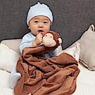 美國 Angel Dear 大頭動物嬰兒毛毯禮盒版 (小猴)