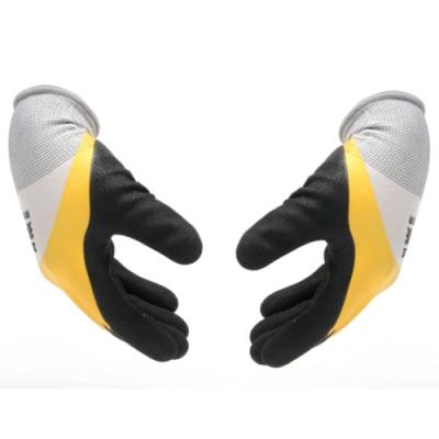 黃黑磨砂乳膠防護手套(1雙入)