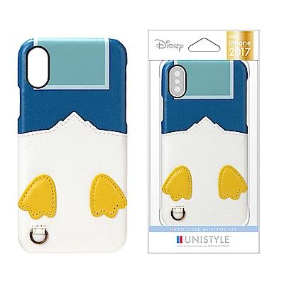 iPhone X 手機殼 迪士尼 正版授權 皮革/插卡/口袋 硬殼 5.8吋-唐...