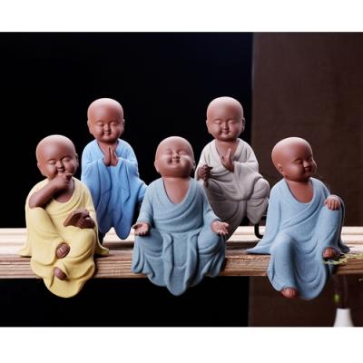 【原藝坊】禪趣風  居家紫砂陶瓷  沙彌茶寵套組