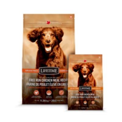 加拿大LIFETIME萊馥特-無穀放養雞-腸胃保健配方 全齡犬 11.36kg/25lb (LTD1625)