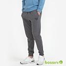 bossini男裝-束口針織棉褲01灰