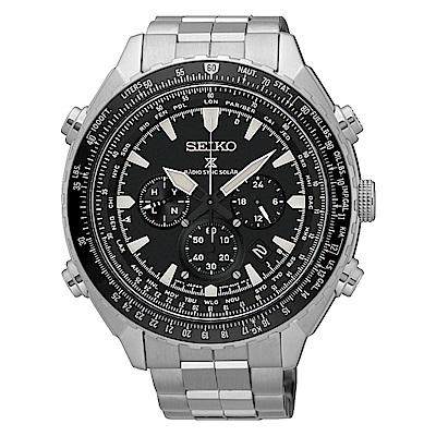 SEIKO PROSPEX太陽能電波計時運動腕錶/黑/8B92-0AK0D(SSG001P