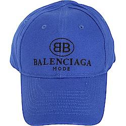 BALENCIAGA BB標誌經典棒球帽(藍色)