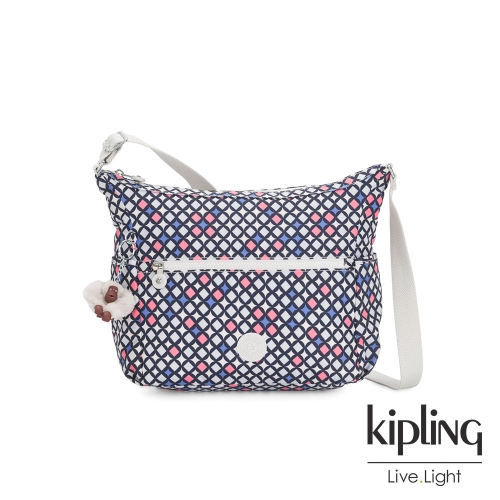 Kipling 華麗閃耀繽紛簡約大容量斜背包-ALENYA